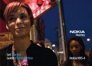 Get Started Guide d'introduction Nokia N95-4