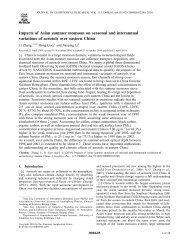 Impacts of Asian summer monsoon on seasonal and interannual ...