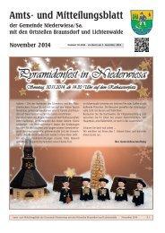 Amts- und Mitteilungsblatt November 2014