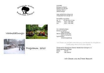 Veranstaltungs- Programm 2010 - Waldschule-Solingen