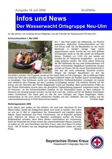Infos und News 16 - Wasserwacht Ortsgruppe Neu-Ulm