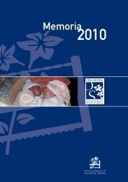 Memoria del año 2010 de la Obra Social - Clínica Santa Elena