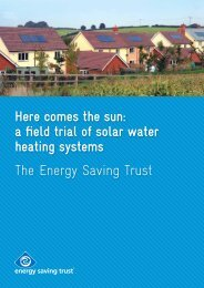 a field trial of solar water heating systems - Energy Saving Trust