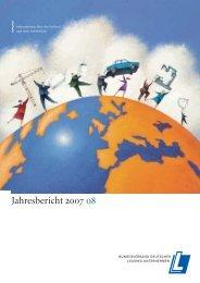 Jahresbericht 2007 / 2008 - BDL
