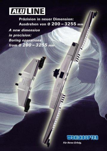 Ausdrehen von Ø 200 – 3255 mm - MS Spinex