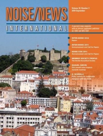 Volume 18, Number 3, September, 2010 - Noise News International