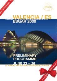 ESGAR 2009 Preliminary Programme (PDF) - ESR - Congress ...