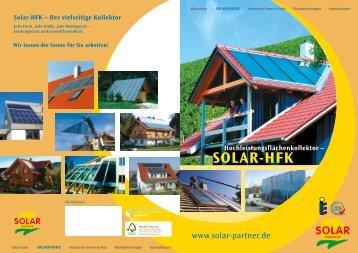 Solar-HFK – Der vielseitige Kollektor - Gerold Weber Solartechnik
