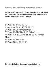 NUOVO-Elenco classi con il seguente orario ridotto 2 ... - Marco Polo