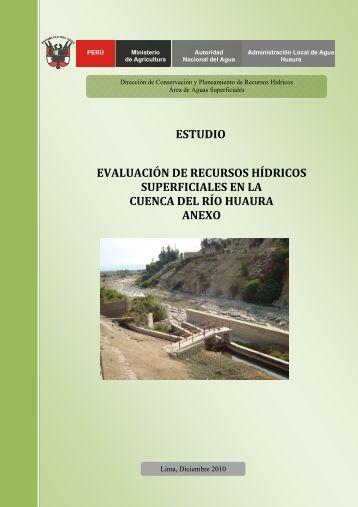 evaluación de recursos hídricos superficiales en la cuenca del río ...