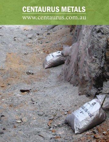 CENTAURUS METALS - The International Resource Journal