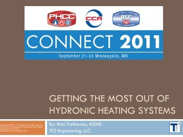 Getting the Most out of hydronic heating systems