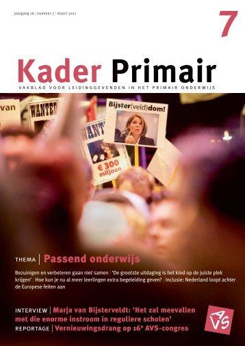 Kader Primair 7 (2010-2011) - Avs