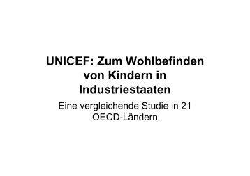 UNICEF: Zum Wohlbefinden von Kindern in Industriestaaten