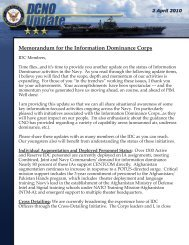 Memorandum for the Information Dominance Corps