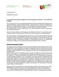 9 neue sächsisch-polnische Projekte im EU ... - Polen 2007-2013