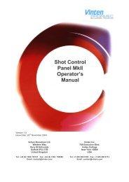 Shot Control Panel MkII Operator's Manual - Vinten Radamec
