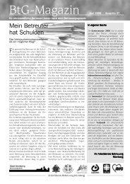 BtG-Magazin - GeBeN - Gesetzliche ehrenamtliche BetreuerInnen in ...