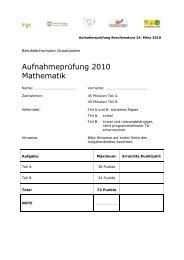 Mathematik Aufgaben - Wirtschaftsschule KV Chur