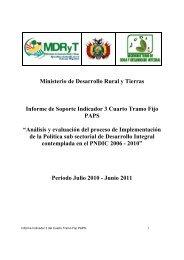 Indicador 3 - 4to. Tramo Fijo - Viceministerio de Coca y Desarrollo ...