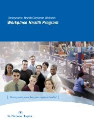 Workplace Health Program - St. Nicholas Hospital