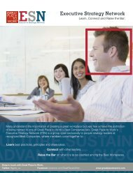 Executive Strategy Network - Great Place to Work Institute