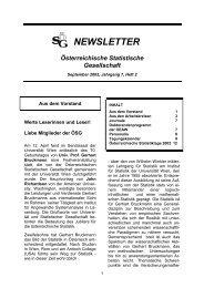 Newsletter September 2002, Jahrgang 7, Heft 2 - Oesterreichische ...
