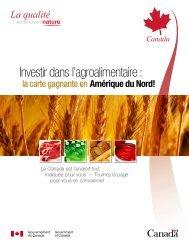 Investir dans l'agroalimentaire - Chambre de Commerce et d ...