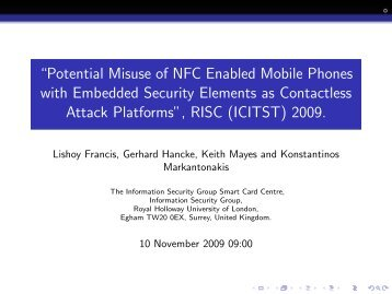 ``Potential Misuse of NFC Enabled Mobile Phones with Embedded ...