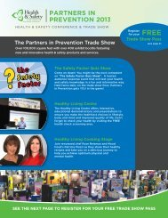 The Partners in Prevention Trade Show - Heartzap Services Inc.