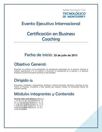 Certificación en Business Coaching