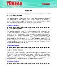 Sayı:98 - Türkiye Seyahat Acentaları Birliği
