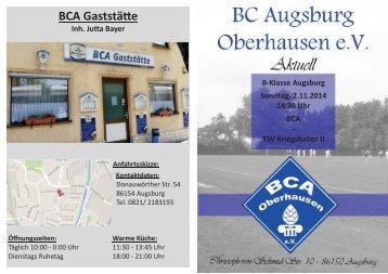 6. Heimspiel 2.11.2014 Bc Augsburg Oberhausen - TSV Kriegshaber II