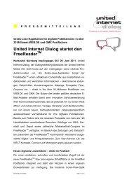 United Internet Dialog startet den Freereader