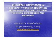 European dimension in geography teacher education programmes ...