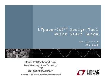 LTpowerCAD Quick Start Guide - Linear Technology