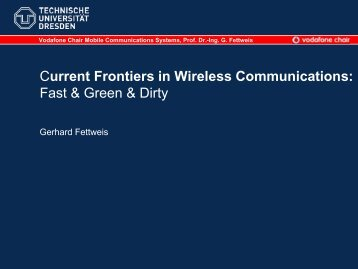 Current Frontiers in Wireless Communications: Fast ... - WCNC 2009