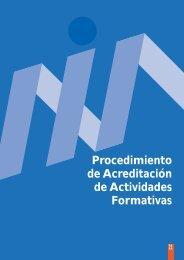 Procedimientos de acreditación de las actividades formativas