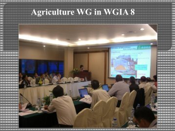 Summary of WG2: Agriculture Sector [PDF: 965KB] - GIO ...