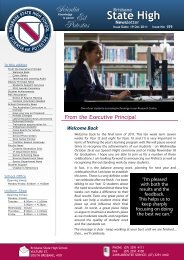 Newsletters Issue - Brisbane State High School - Education ...