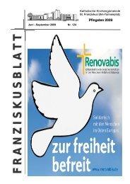 Franziskusblatt 124, Juni 2009 - Ulm-basilika.de