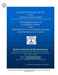 Super Specialty - National Board Of Examination