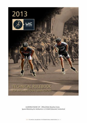 2013 WIC Rulebook - WORLD INLINE CUP