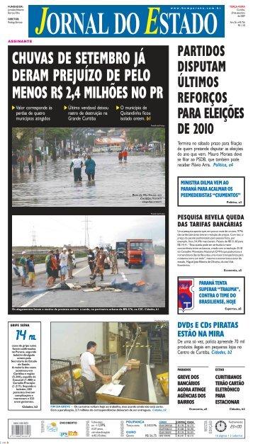 chuvas de setembro já deram prejuízo de pelo menos ... - Bem Paraná