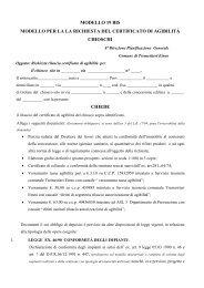 Mod.19bis Richiesta agibilità chioschi - Comune di Tremestieri Etneo