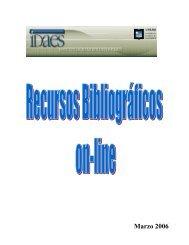 Recursos On Line - Instituto de Altos Estudios Sociales