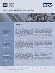 Editorial - Instituto de Altos Estudios Sociales