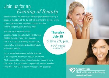 Join us for an Evening of Beauty - Samaritan Health Services