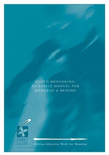 youth mentoring: an advice manual for manukau & beyond - Scottish ...