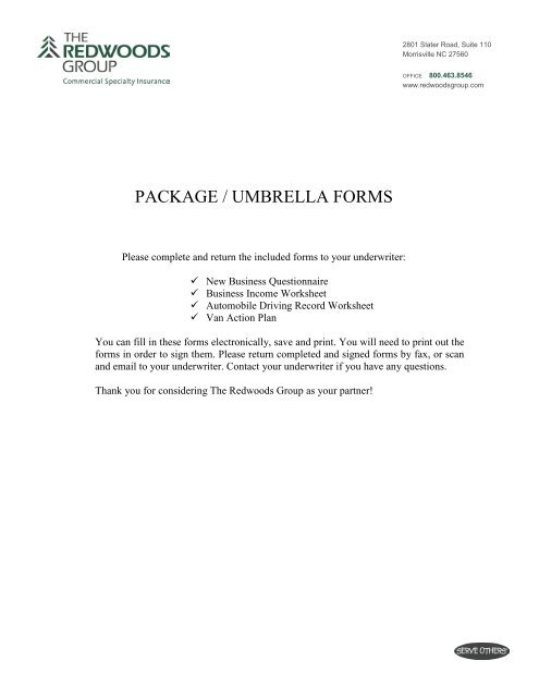 Array - ymca package forms   the redwoods group  rh   yumpu com